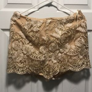 2pc gold short set (brand new with tag)